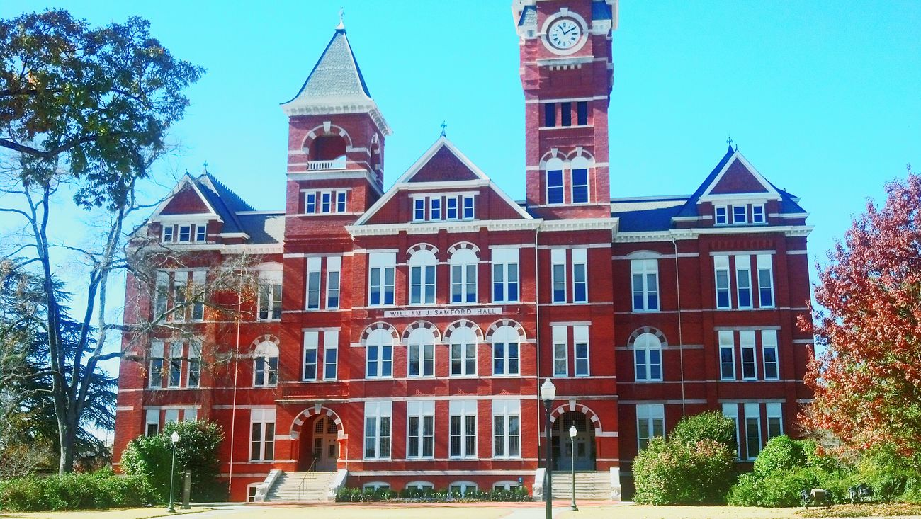 Auburn University Au Samford Hall War Eagle Auburn Alabama Architecture Colorful Landscape Brick Building Exterior Building Buildings & Sky Buildings Historical Building University College