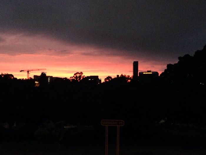 Non Filter Brisbane City Morning Dawn Of A New Day Sky And Clouds Sky