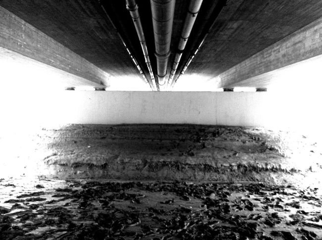 Blackandwhite Monochrome Bridge Under The Bridge