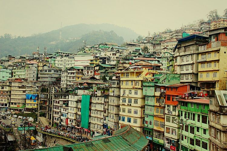 City Architecture Apartment Cityscape Building Exterior Outdoors Organized Life No People Art Is Everywhere Gangtok,India City Life Views From The Sidewalk High Angle View The Street Photographer - 2017 EyeEm Awards The Architect - 2017 EyeEm Awards Visual Feast The Graphic City Mobility In Mega Cities
