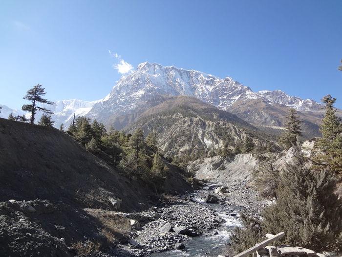 Annapurna Nepal Day Gangapurna Glacial High Landscape Mountain Nature No People Outdoors Range Scenery Sky Snow