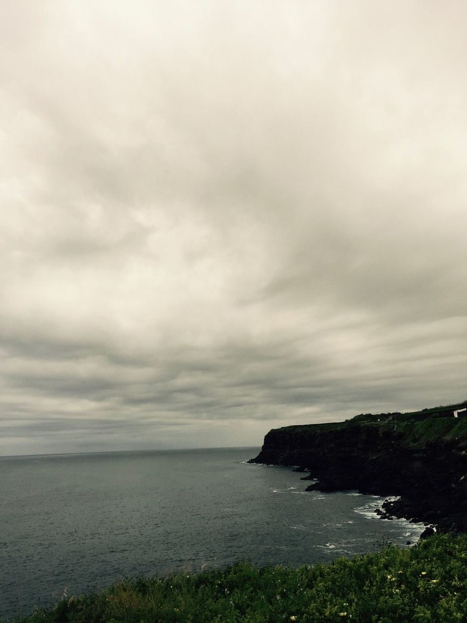 Azores Sao Miguel- Azores Portugal Coast Clouds And Sky Seascape Water Rain