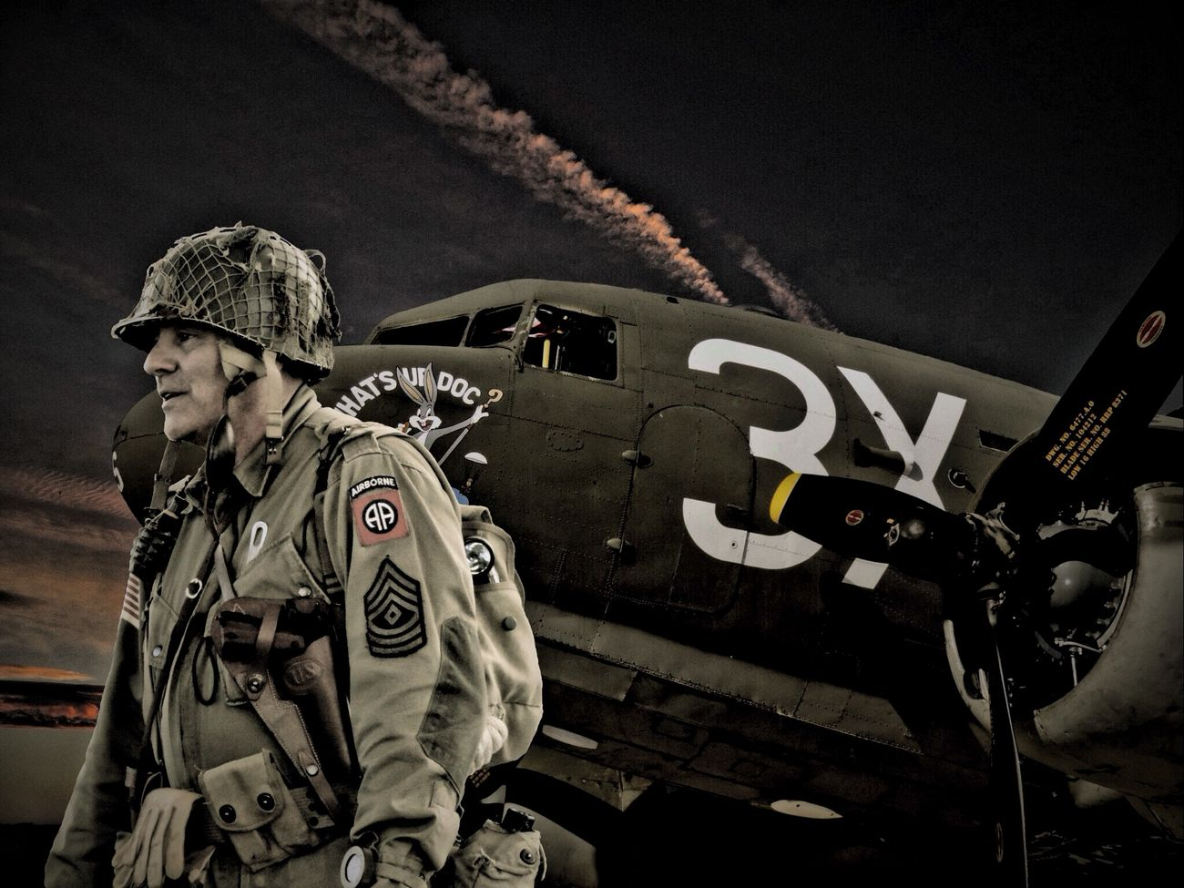 D-Day Revisited Usarmy Paratrooper Ww2warbirds