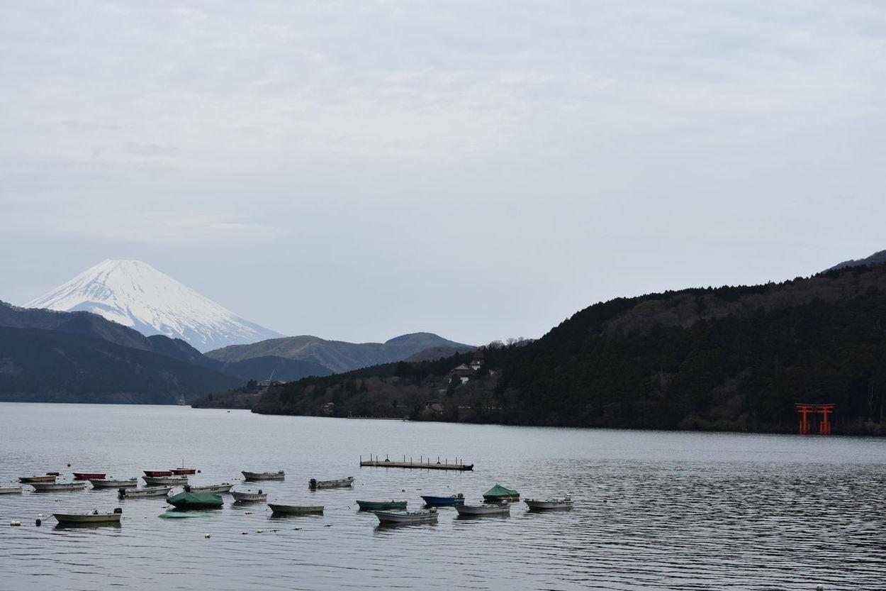 Boats Hakone Hakone Japan Hakone Shrine Japan Japan Photography Lake Ashi Lake Ashinoko Lake View Lakeside Mount FuJi Mount Fuji Views In The Distance Mountains Mt Fuji Mt Fuji, Japan TORII Water