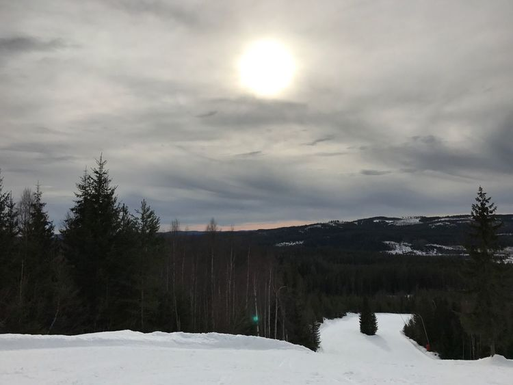 Winter Snow Cold Temperature Nature Sky Scenics Beauty In Nature Tranquil Scene Tranquility Tree Landscape Non-urban Scene Outdoors No People Mountain Cloud - Sky Sun Day Skiing ❄ Skilodge Rommé Sweden