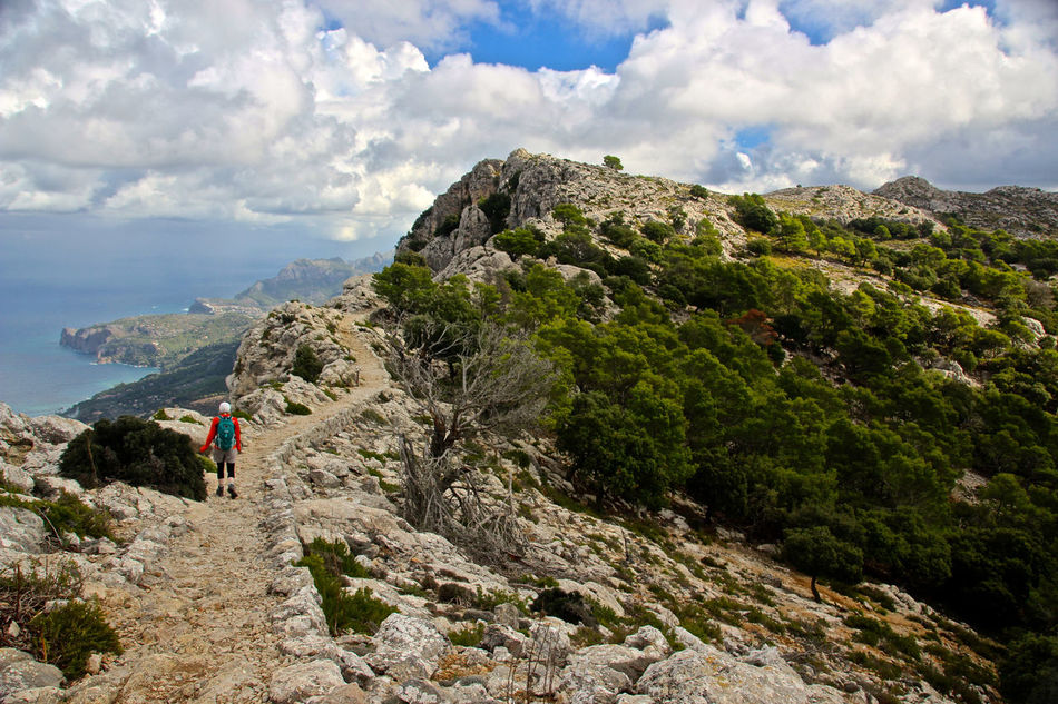 Adventure Beauty In Nature Cliff Cloud - Sky Day Healthy Lifestyle Hiking Landscape Majorca Mallorca Mountain Nature Outdoors People Sea Sky SPAIN Tourism Travel Travel Destinations Trekking Vacations
