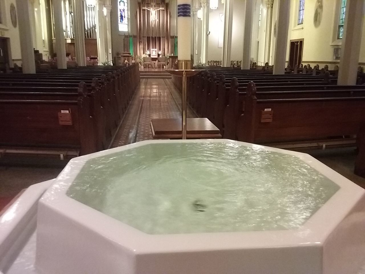Huge holy water Holywater  Architectural Feature Purity Catholicchurch Appleton Wisconsin