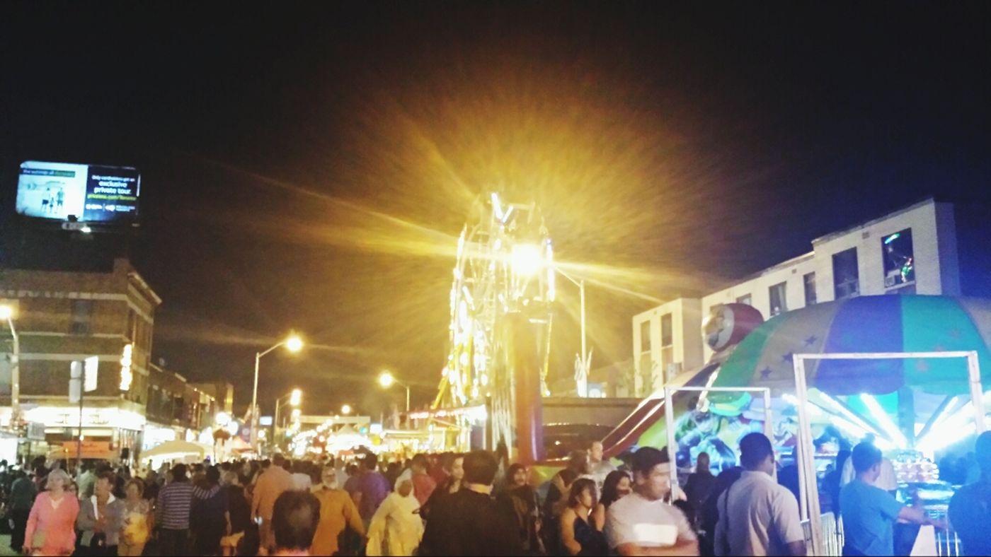 Taste of the Danforth Greek food festival. Tasteofdanforth Festival Ferris Wheel Night Photography