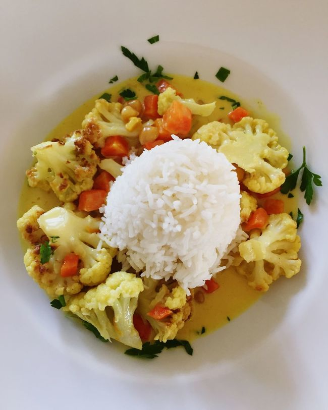 Food Rice Lunch Vegetarian Food Curry Vegetable Curry Yellow Curry