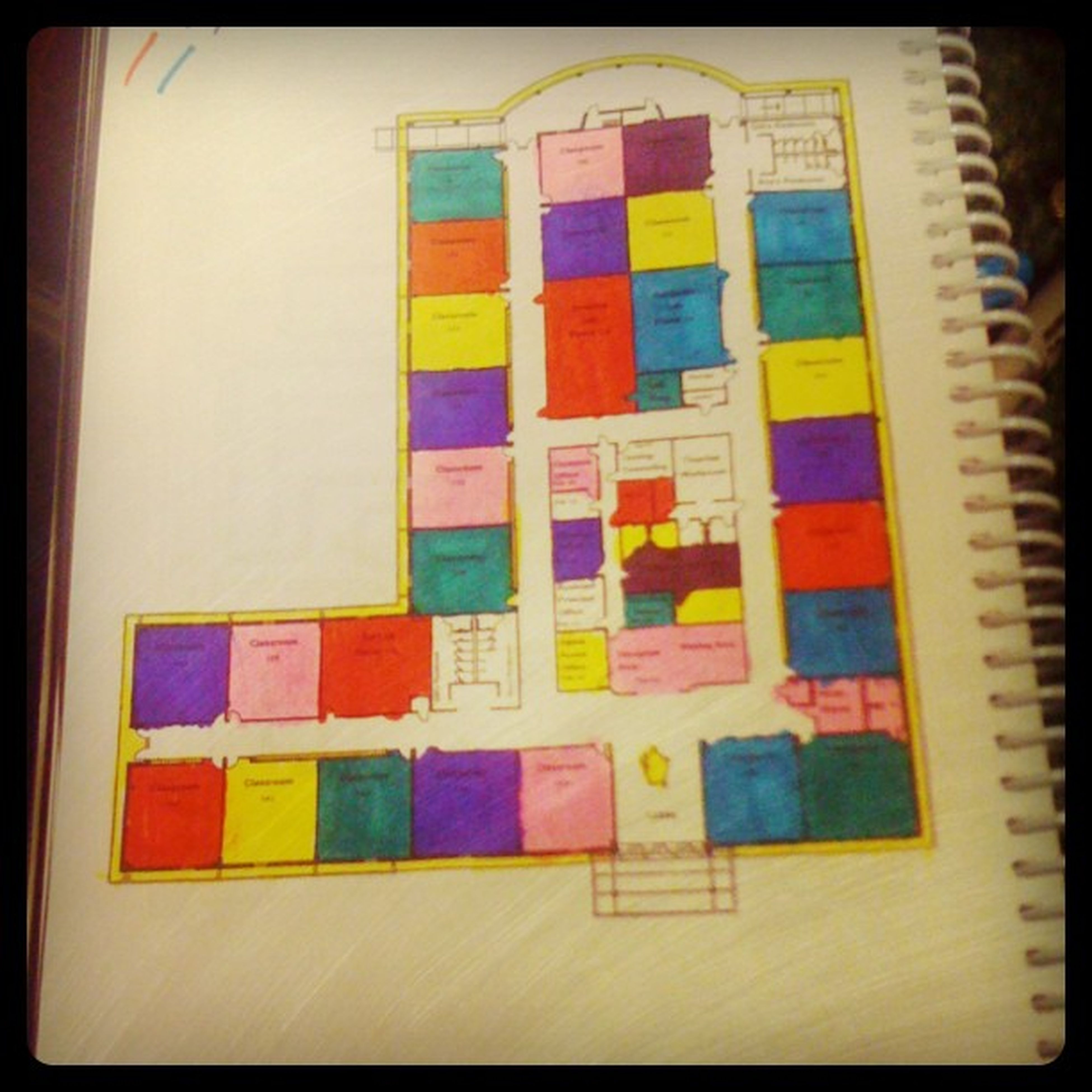 I got bored, so I colored in my new handbook. Sophomore  Awwyeahh Coloring