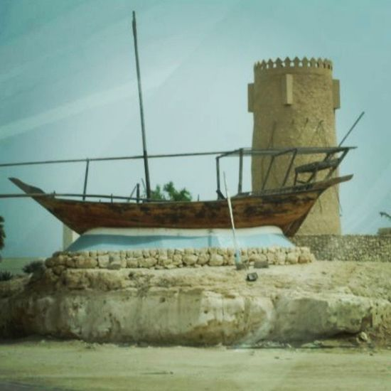 Boat Desert Castle IloveQatar qatar