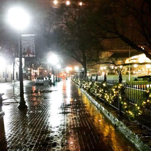 Brickwalk. Street Light. Construction. Christmas.