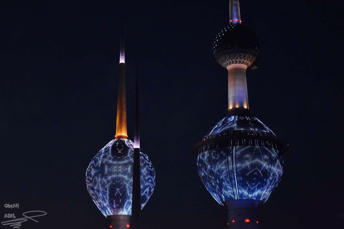 Visit to Kuwait city Photography Lights Towers Kuwait Towers Kuwait Kuwaitcity Travel Myshoot
