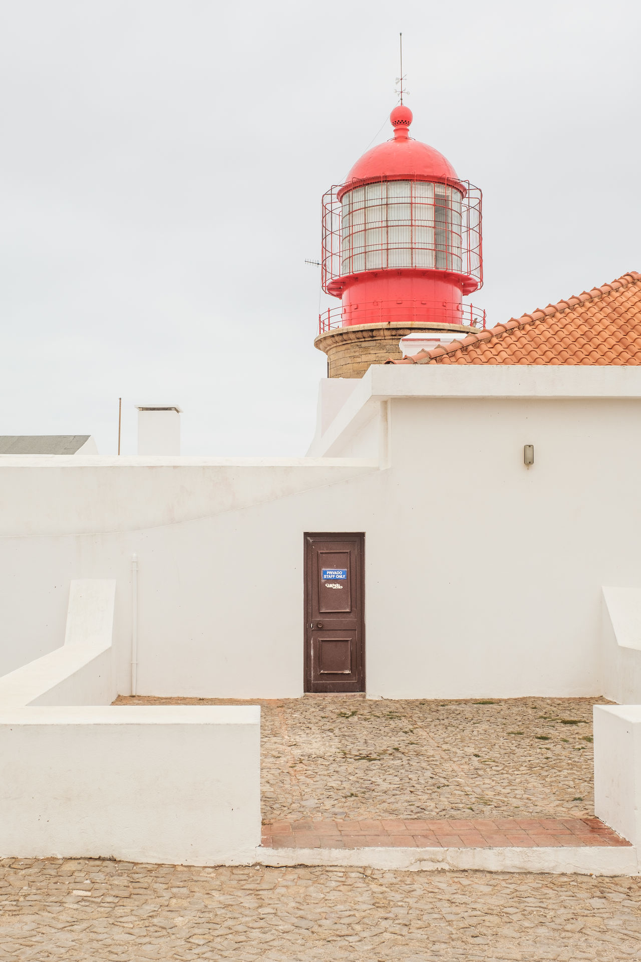 Algarve, Portugal Architecture Building Exterior Built Structure Day Lighthouse No People Outdoors Sky Whitewashed