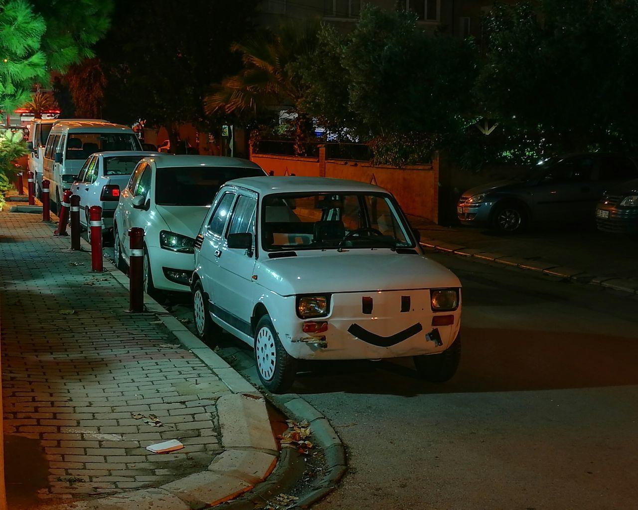Car Transportation Night Stationary Land Vehicle Outdoors No People Police Car Huawei Huawei P9 Leica Fiat Fiat Bis Simle😉 And Simle 😊😊 Simle  Road City City Street Street Light