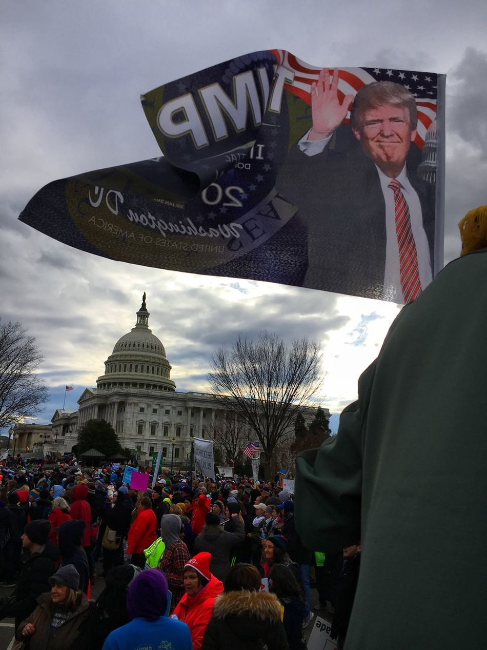 Trump Politics ProLife March Capital Hill Washington, D. C.