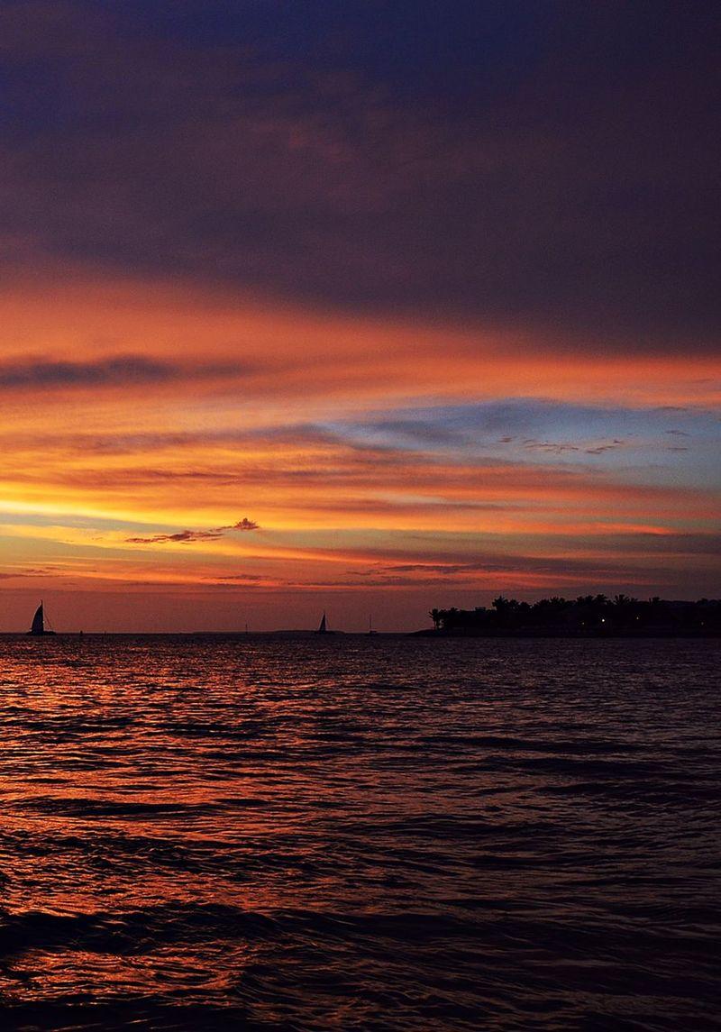 Caribbean Caribbean Sea Cloud Colors Florida Florida Sunset Key Island Key West Ocean Reflection Sea Sky Sky And Clouds Sun4 Sunset Travel Travel Photography United States