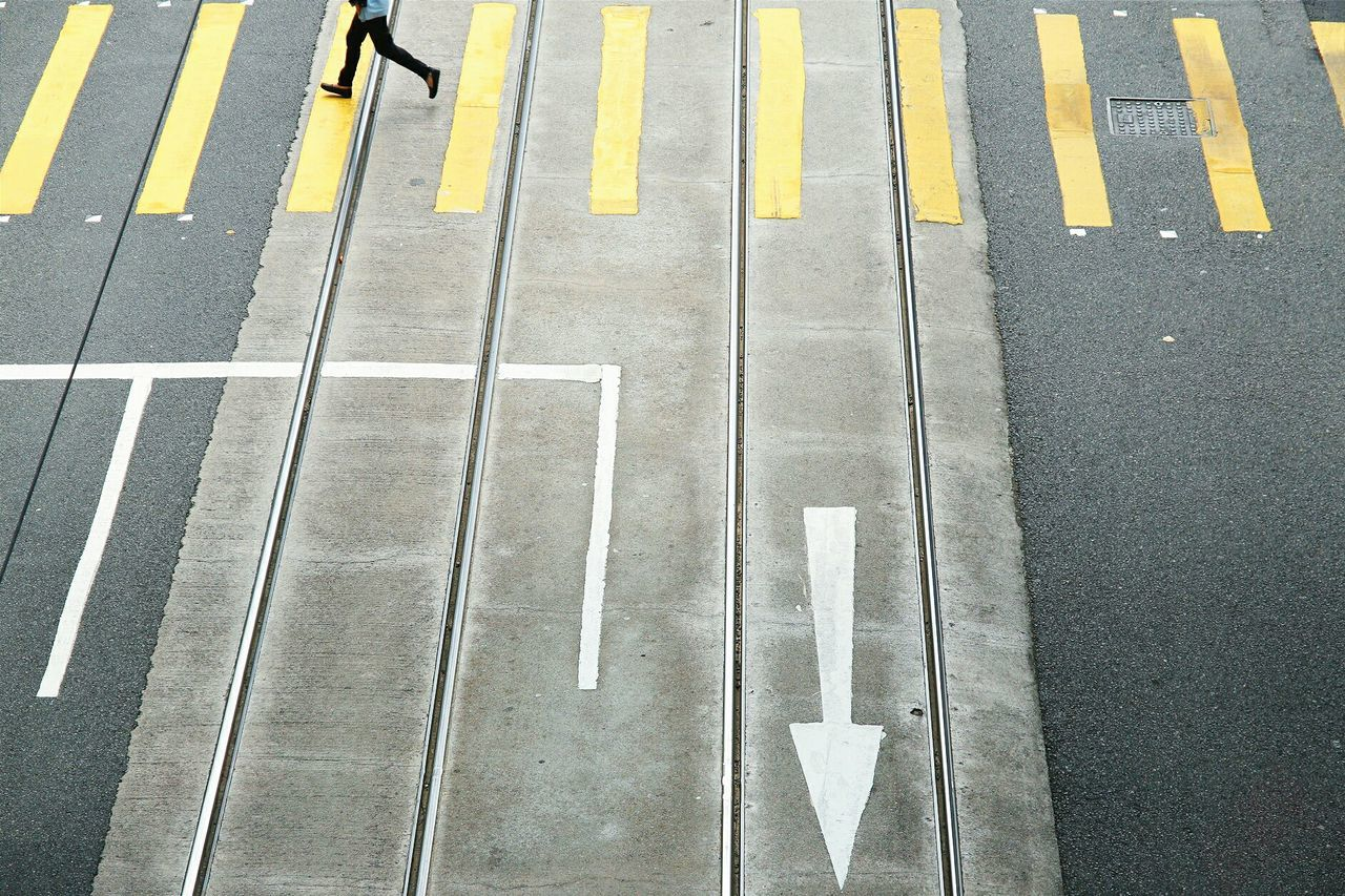 Beautiful stock photos of safety, Arrow Symbol, Asphalt, Crossing, Day