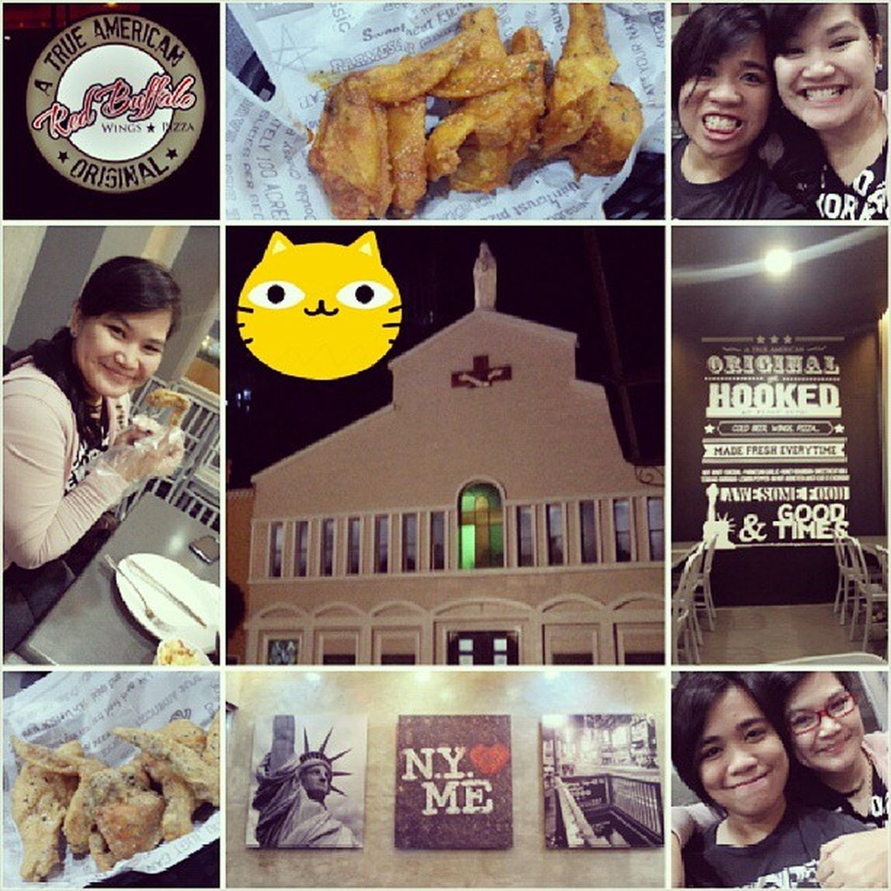 Mass at Padre Pio + dinner at Red Buffalo Wings. excuse the random kitty. Easylikesundaymorning Instagramthatshit @charmed_ice