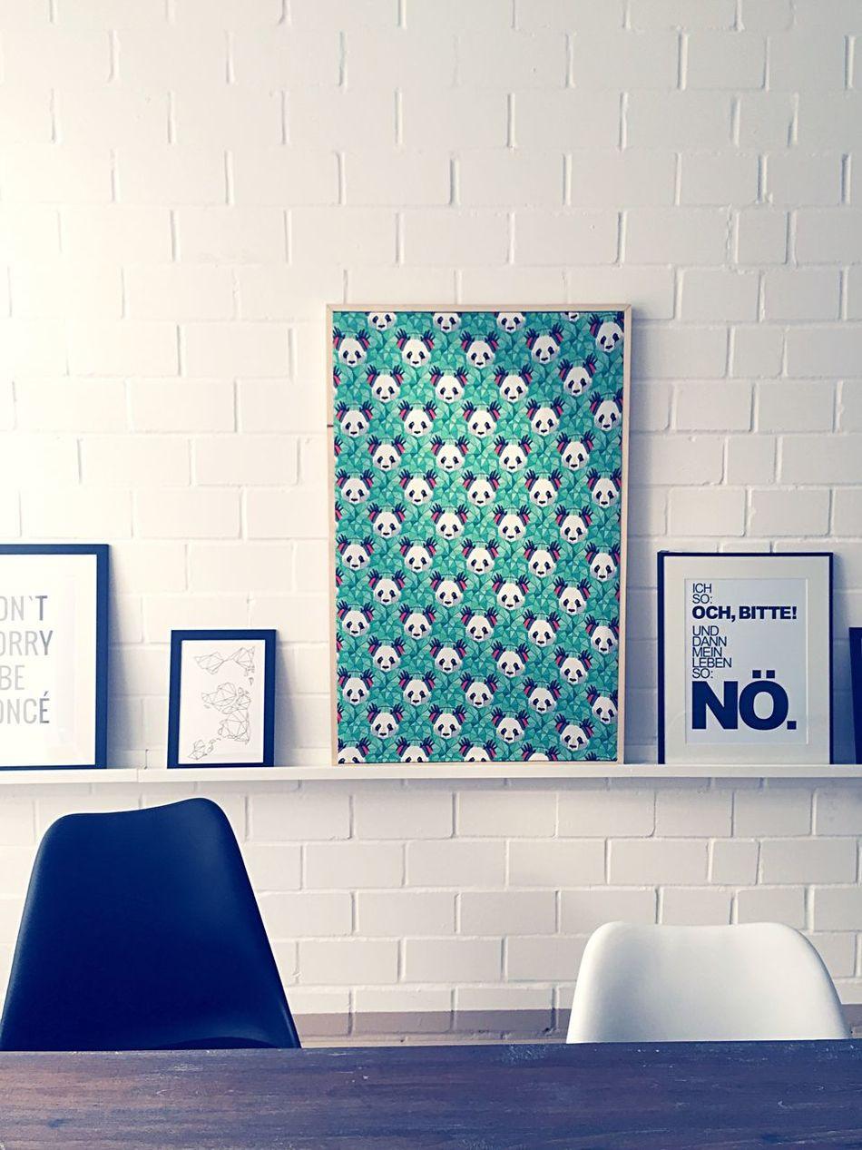 DaWanda Office Pandas on the wall