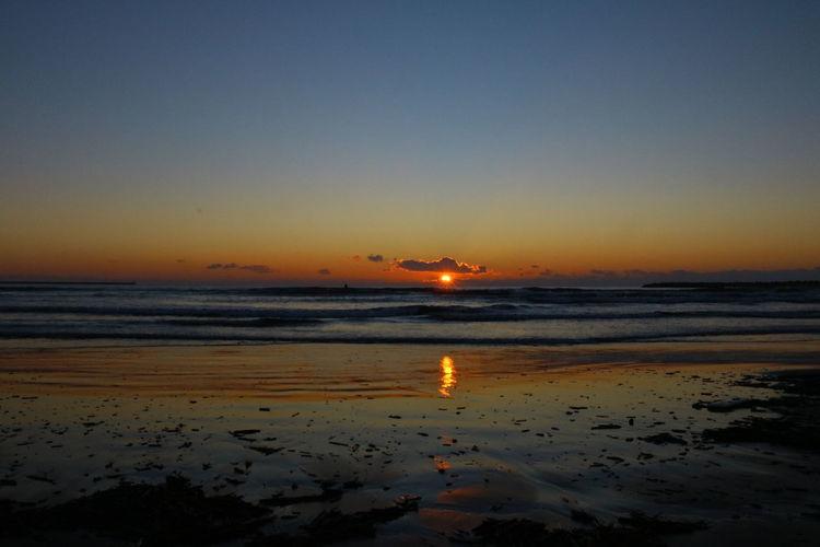 Firstsunrise Sea Sea And Sky First Eyeem Photo