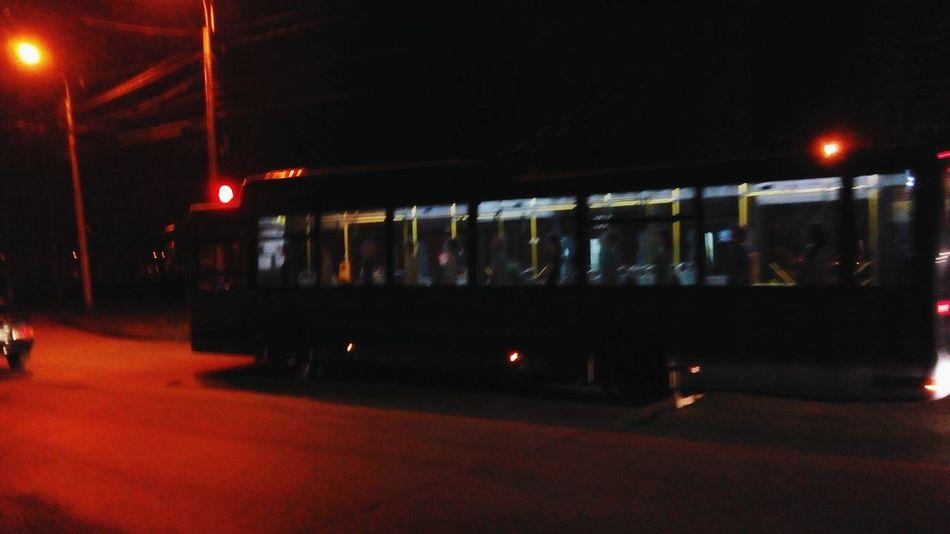Transportation Illuminated Public Transportation Mode Of Transport Travel Night Railroad Station Rail Transportation Subway Train Stationary No People Trolley Bus Bus First Eyeem Photo On The Way