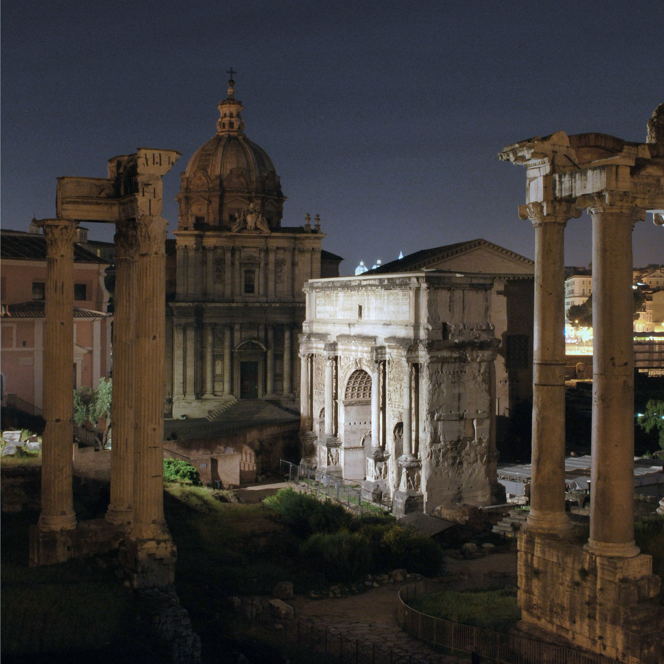 Architecture Foro Romano No People Roma Roma Di Notte Roman Forum Rome Rome By Night Rovine Ruins