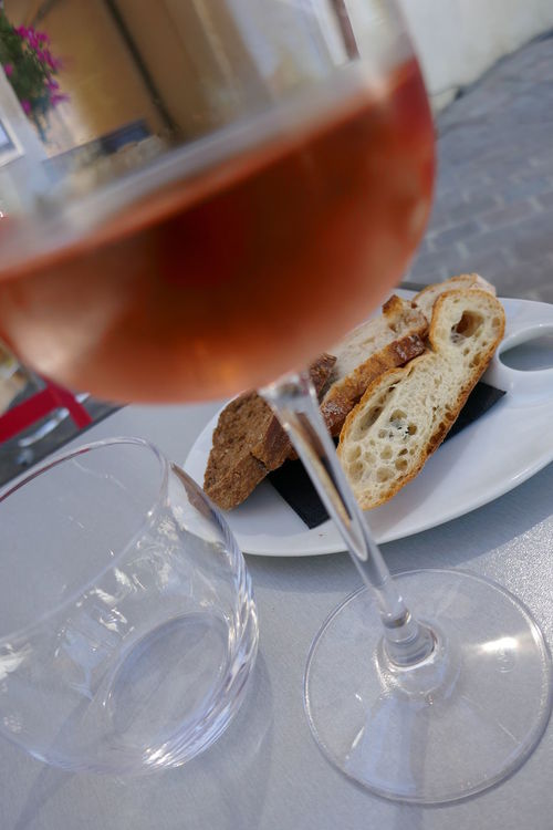 At Table Bread Close-up Food France Freshness No People Ready-to-eat Restaurant Rose Wine Served Still Life Wine Glas