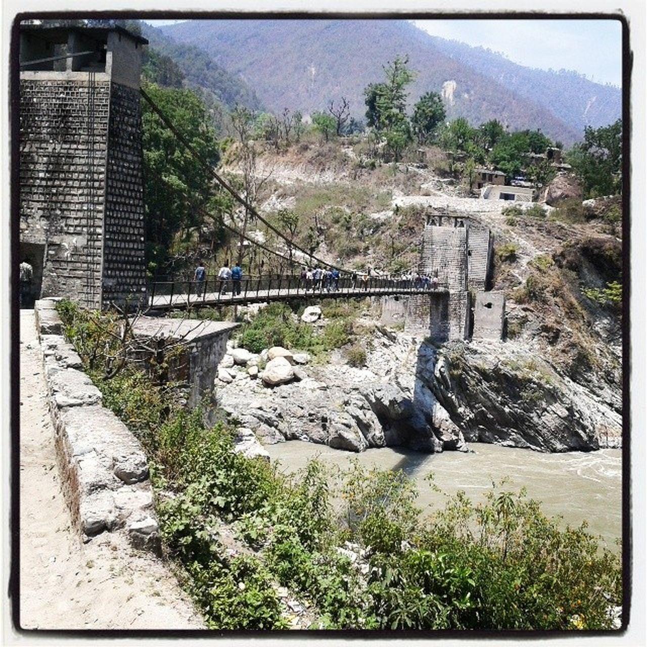 Jhoola bridge in gauchar ...Brigde Garhwal Gauchar