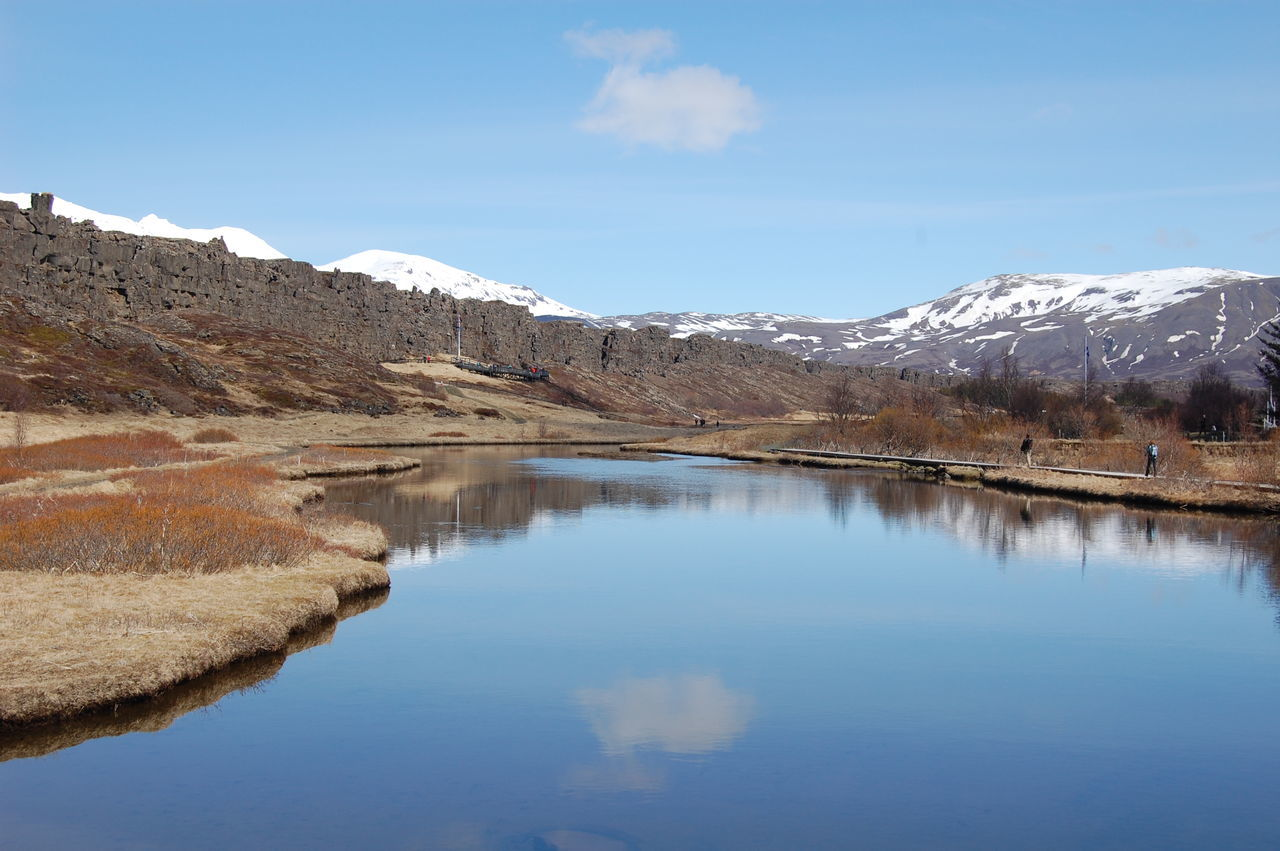 Beauty In Nature Clear Sky Day Lake Landscape Mountain Nature No People Outdoors Reflection Scenics Sky Springtime Water Thingvellir National Park Iceland