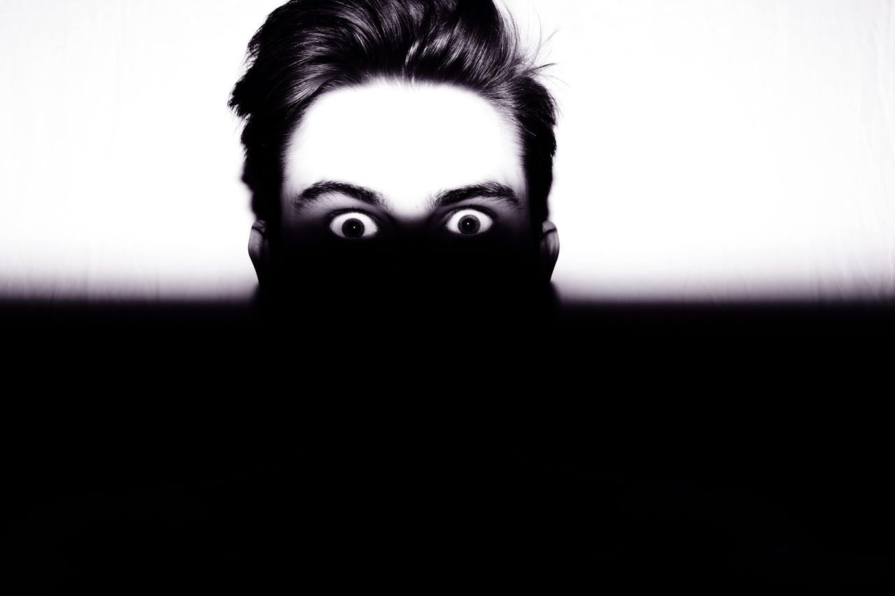 Adult Adults Only Bizarre Close-up Day Eyeball Gasping Halloween Headshot Human Body Part Human Eye Human Face Indoors  Looking At Camera Mystery One Person One Woman Only One Young Woman Only Only Women People Portrait Shock Spooky Young Adult