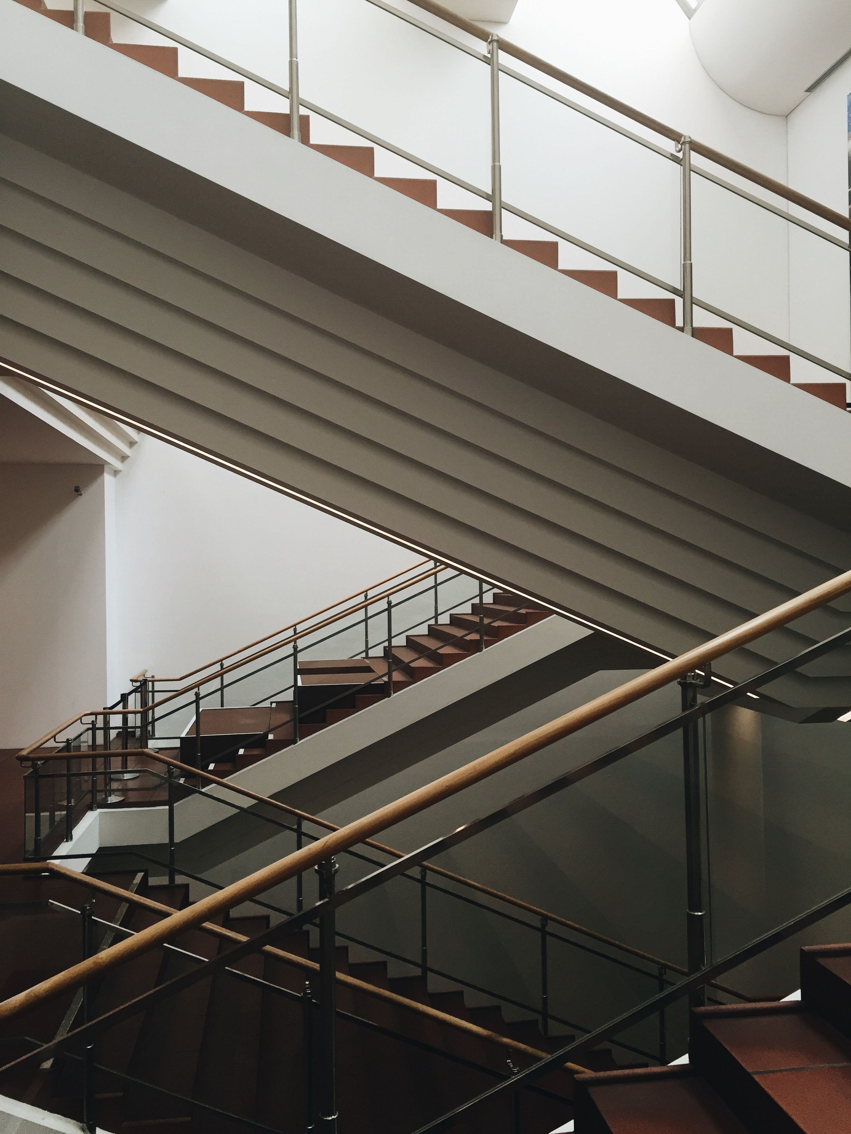 built structure, architecture, staircase, steps and staircases, low angle view, no people, indoors, day