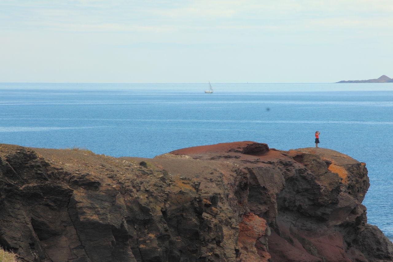 Steilküste - cliffs - acantilado Acantilado Canary Islands Cliffs Cost $175 Million To Build Costa Espana-Spain Himmel Kueste Lanzarote Island Mar Meer Rock Formation Sea Sky Steilküste