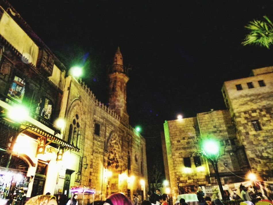 Illuminated Night Architecture Building Exterior City Religion Outdoors Sky Old Friends❤ A Night Out.. Mosque Photography Islamic Cairo Cultures City Hanging Out With Friends