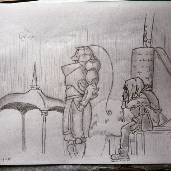 Fma's drawing...✏✏📝 Drawing Drawings Draw Fma FMAB Ed Al Elric Lonely Own Alchemy MyDrawing Pencil 2B 6b 10b HB Anime Manga Follow4follow Fullmetal Fullmetalalchemist