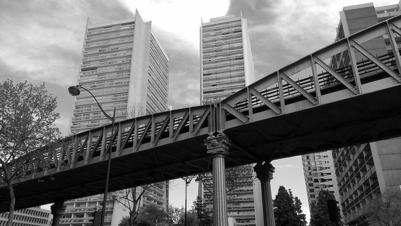 Architecture Blackandwhite Paris13 Subway Bridge