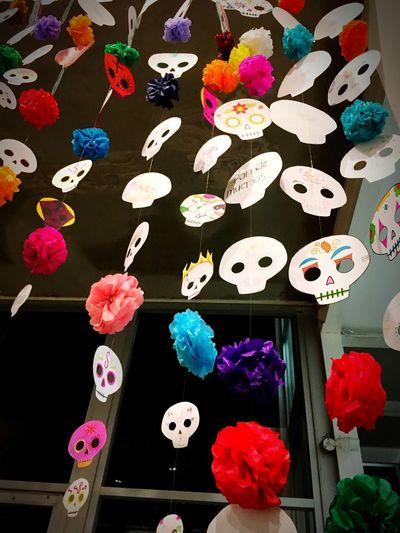 Día de Muertos 💀 Dia De Muertos México Flower Multi Colored Art And Craft No People Variation Indoors  Close-up