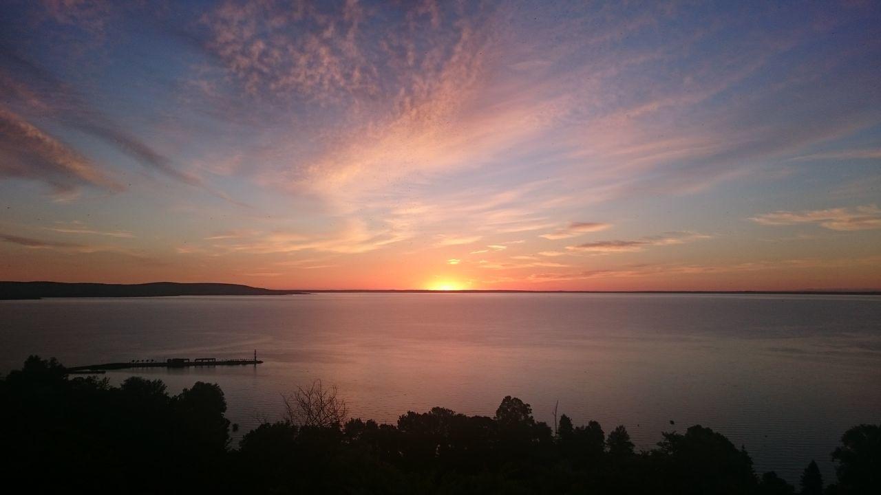 Almost Beauty In Nature Calm Cloud Cloud - Sky Idyllic Romantic Sky Sea Sun Sunset