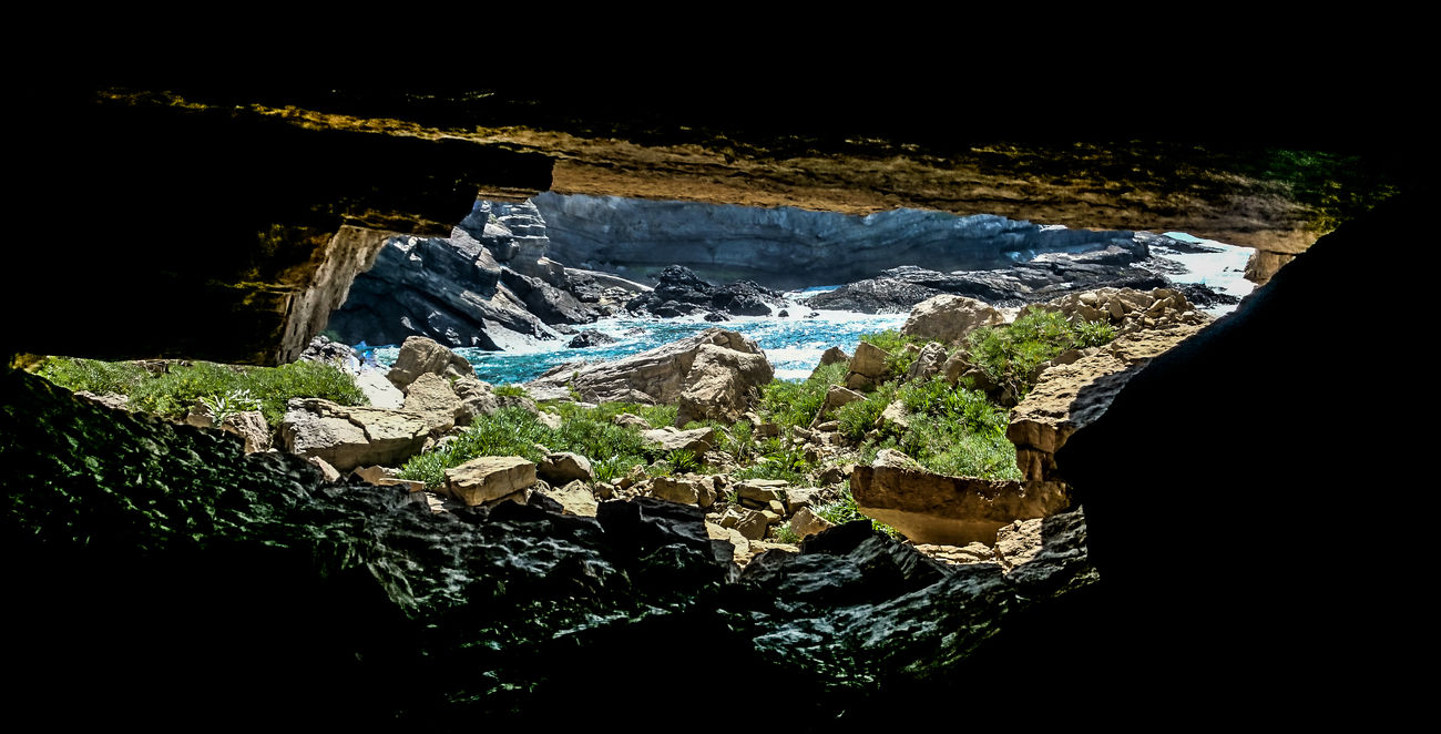 Beauty In Nature Cave Day Landscape Nature No People Physical Geography Rock - Object Sea Tranquil Scene Water