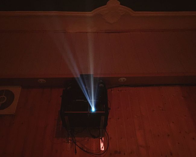 Projector Vidéo Projecteur Film Projector Beamer Smokey Rays Evening