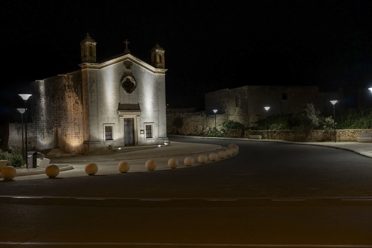 Architecture Building Exterior Built Structure Illuminated Night No People Outdoors Place Of Worship Qrendi Religion Sky Miles Away