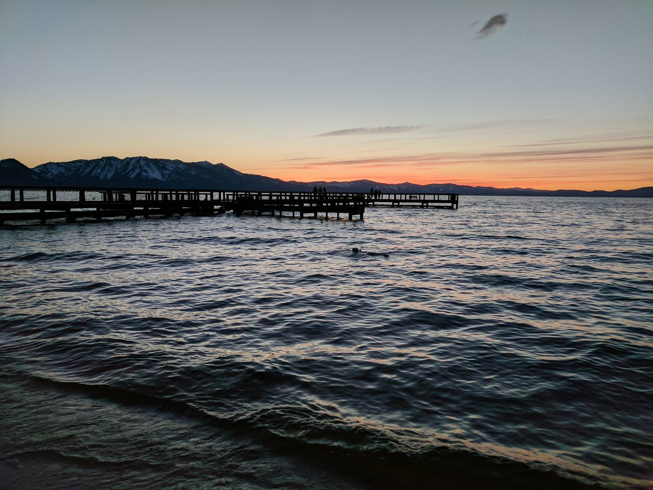 Sunset Water Sky Landscape Mountains And Beach Lake Waves Alpine Lake Summer Horizon Over Water Beach Tranquility Tranquil Scene Scenics Vacations Nature Travel Destinations No People Beauty In Nature Wave Day Lake Tahoe California United States