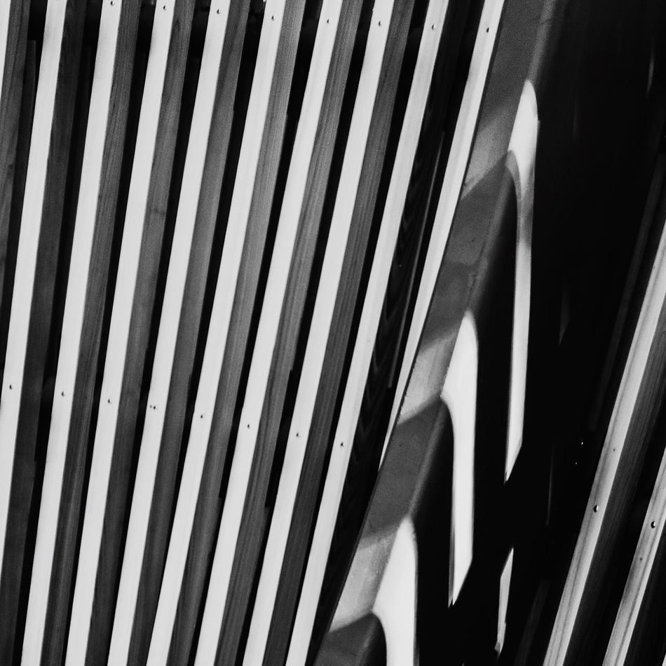 Art Is Everywhere Striped Pattern Close-up No People Wood Architecture Details Detail Architectural Detail Break The Mold Black And White Photography Blackandwhite Black & White Relaxing Photooftheday IPhoneography Instagood White Lines Artistic Different Perspective
