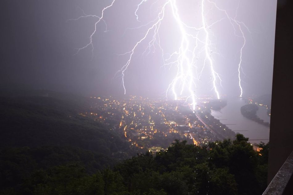 Biagio Costagliola Beauty In Nature Danger Electricity  Extreme Weather Forked Lightning Illuminated Lightning Nature Night No People Outdoors Power In Nature Scenics Sky Storm Storm Cloud Thunderstorm Tree Weather