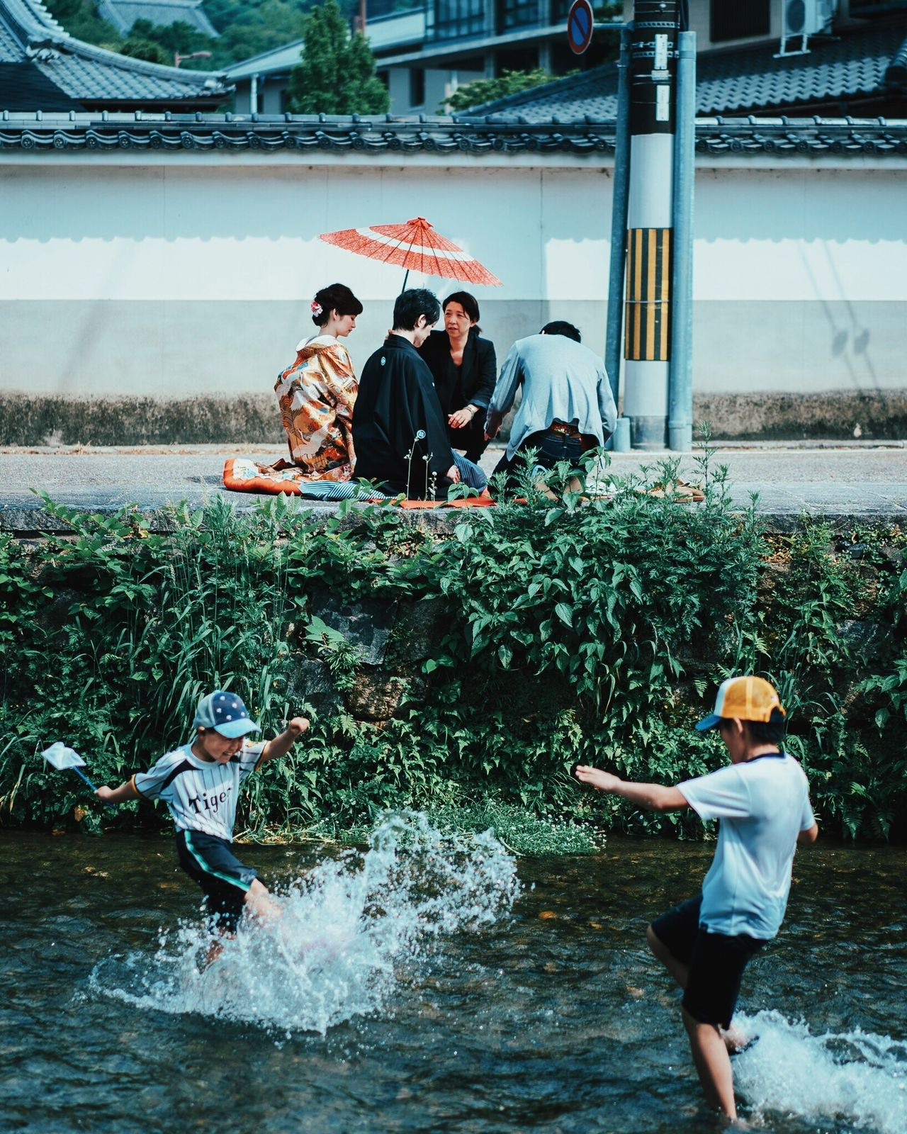 Live For The Story Togetherness Enjoyment Happiness Young Adult Real People Kyoto, Japan Outdoors River