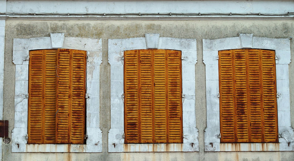 Architecture Backgrounds Building Exterior Close-up Closed Façade Architecturale Metal Mur No People Old Outdoors Pattern Persiennes Pierre Symmetry Texture Volet Wall Wall - Building Feature Window Yonne