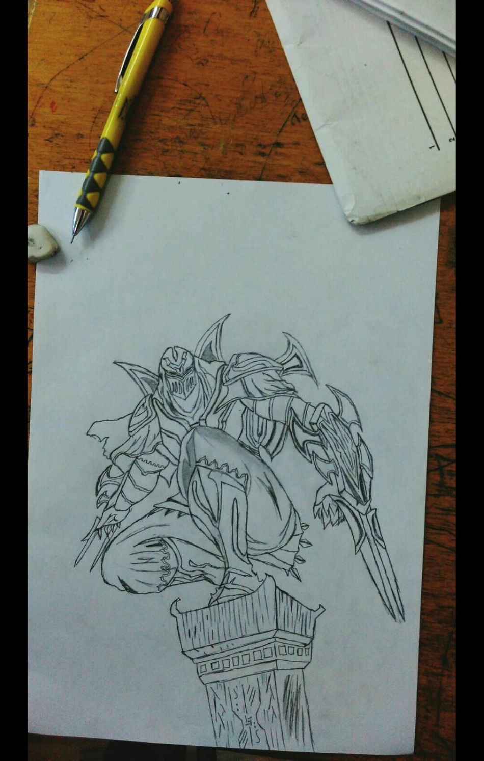 Art Pencil Drawing Zed League Of Legends Shadow
