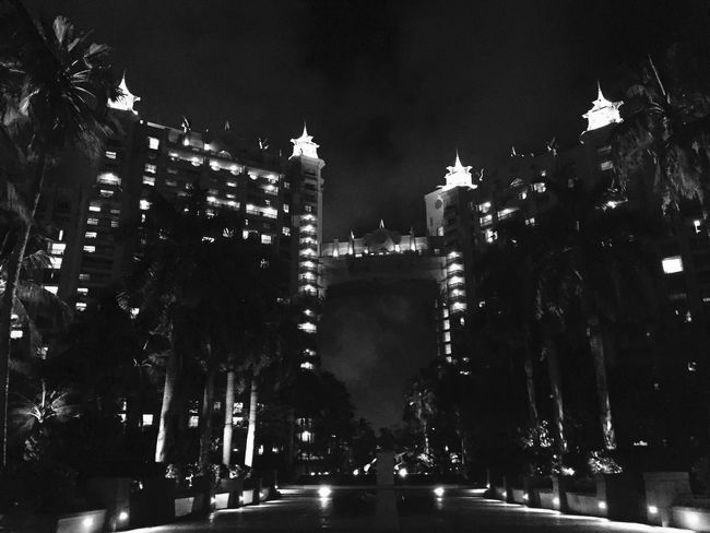 Atlantis, Bahamas.  Architecture Film Noir Blackandwhite Photography
