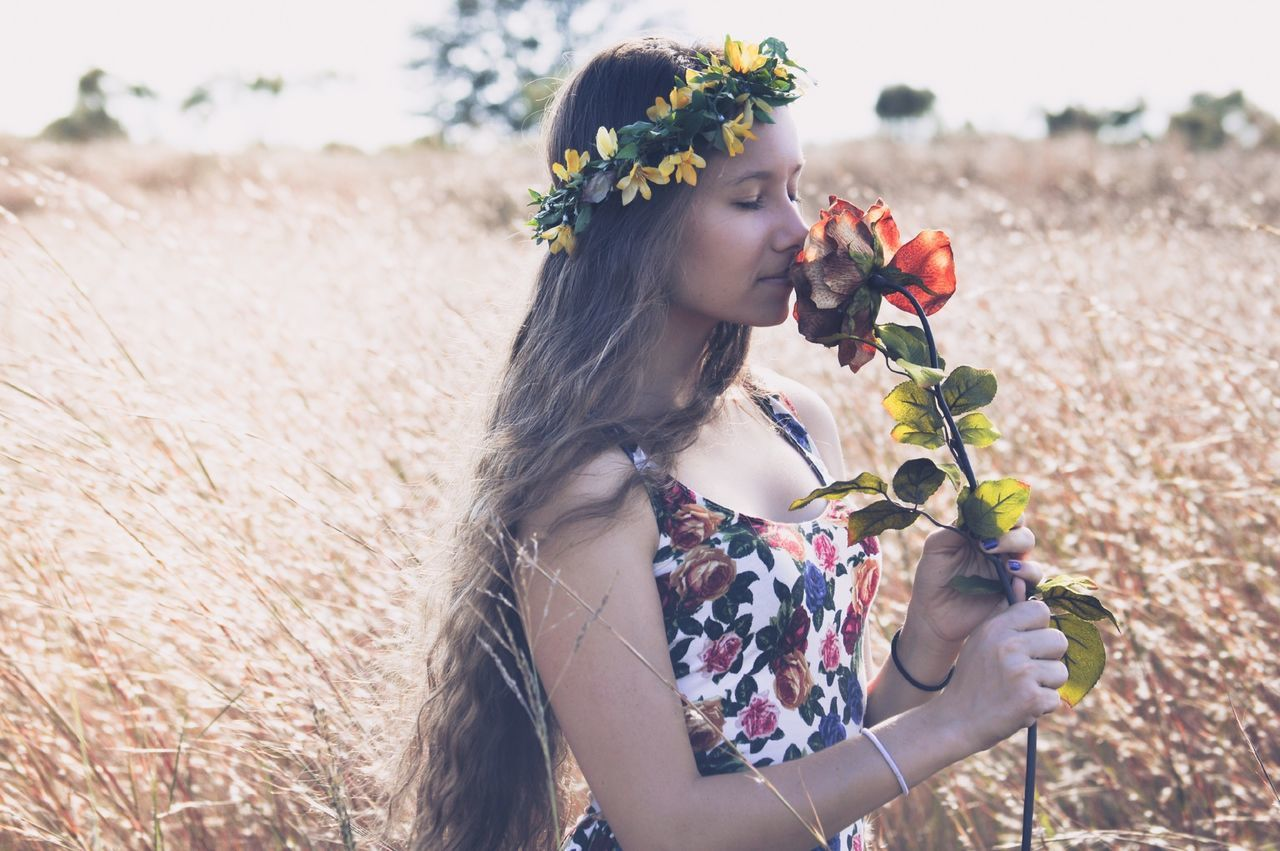 Beautiful stock photos of blumen, focus on foreground, creativity, person, mask - disguise