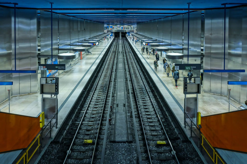 Beautiful stock photos of train, Ceiling, Empty, Germany, Group Of People